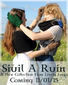 3 days until the release of the new knitwear collection, Siuil A Ruin, only at the Etsy shop, Lively Loops!