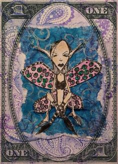 Artwork created by Jools Robertson using rubber stamps designed by Daniel Torrente for Stampotique Originals