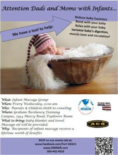 Attn Dads & Moms with Infants.... Fort Sill ACS Presents: Infant Massage.