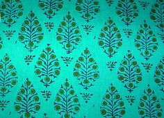 By The Bolt | Fabric Pattern Reference: Indian Block Print Fabric