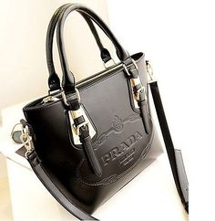 Fashion Women Lady Shoulder Messenger Hobo Shopping Tote Black Bag Handbag