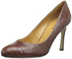 Nine West Women's Drusilla Pump -  Women's Nine West, Drusilla high heel Pumps  Spice up your look with these trendy pumps  Available in a variety of beautiful uppers  Easy on and off  Soft manmade linings  Lightly cushioned footbed  3 1/2 inch covered heel  Manmade textured outsole Product Features  Day-to-dinner style   #Shoes