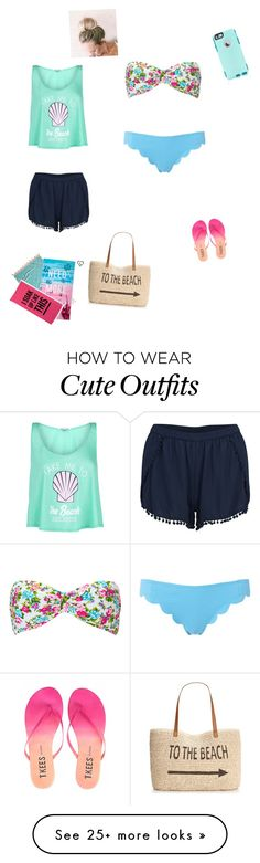 """TO THE BEACH!!!"" by nevaehrodriguez on Polyvore featuring Wildfox, Forever 21, Marysia Swim, VILA, OtterBox, Style & Co., Tkees, John Robshaw, Aéropostale and women's clothing"