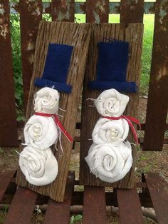 Hey, I found this really awesome Etsy listing at https://www.etsy.com/listing/200072039/burlap-snowmen-set-on-barn-wood
