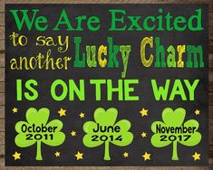 St. Patricks Day Pregnancy Announcement Baby number three, baby number two, baby 3, 4, St. Patrick's Day Pregnancy Announcement St by InJOYPrints on Etsy, St. Patrick's Day Pregnancy Announcement, St Patrick's Day pregnancy chalkboard, pot of gold, rainbow, pregnancy announcement sign, reveal, rainbow baby, st patricks day baby, pregnancy reveal, pregnancy chalkboard, new baby, maternity photo prop, march 17th, pregnancy sign, baby sign, pregnancy announcement chalkboard sign, lucky charm