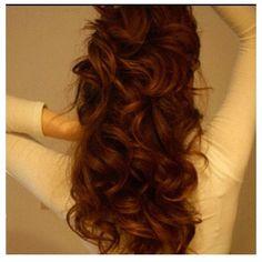 Brunnette & red hair for hair salon