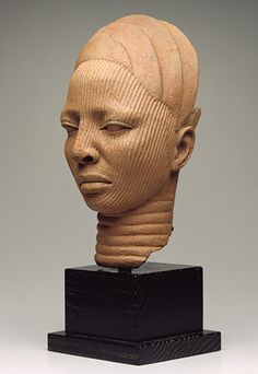 Shrine Head  Ife people, Yoruba  Terracotta; H. 12 in., W. 5 3/4 in.  The John R. Van Derlip Fund, (95.84)  Image courtesy of The Minneapolis Institute of Arts  http://www.artsMIA.org #Africa #African #Yoruba