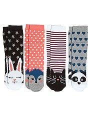 Lot de 4 paires de chaussettes thème animal