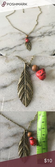 Retro Bronze Leaf Pendant Beautiful retro-style pendant. Total length of the chain is 25 in. Purchased in a jewelry box, so I do not know where it originally came from. Jewelry Necklaces