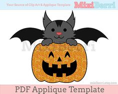 Cute halloween applique template !