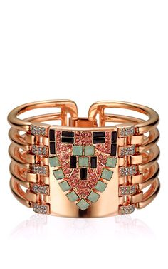 Rose Gold Plated Arrow Head Cuff by Mawi for Preorder on Moda Operandi