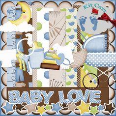 Baby Love - Boy Digital Scrapbook Kit