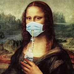Mona lisa cerveza Corona on We Heart It Mona Lisa Drawing, Mona Lisa Parody, Art Memes, Arte Pop, Funny Art, Surreal Art, Aesthetic Art, Aesthetic Drawing, Cute Wallpapers