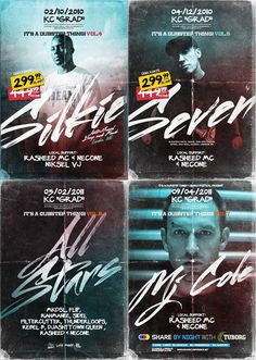 Dubstep party posters