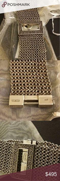 LOIS HILL HANDMADE STERLING BRACELET Beautiful,  Bold, Designer Made Bracelet stamped 925 and Stamped Lois Hill. Lois Hill Jewelry Bracelets