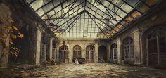 #model #abandoned #session #beauty #palace #Poland #photography #photoshot