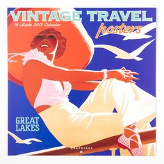 2017 Vintage Travel Poster Wall Calendar