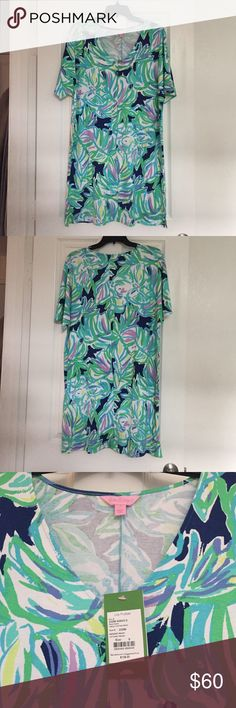 NWT Lilly Pulitzer Caftan Dress Lindley Caftan Dress in Uptown Trunk, size small. Lilly Pulitzer Dresses