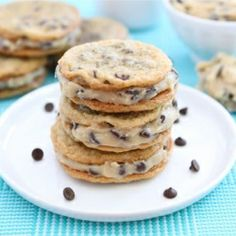 chocolate chip cookie sandwich cookies with chocolate chip cookie dough filling. total mind blow.