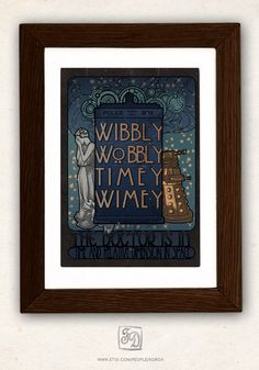 Doctor Who + Arts and Crafts Movement = must buy immediately. $15 print