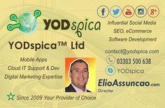 Elio Assuncao Business Card, YODspica Ltd