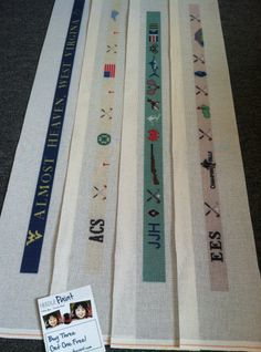 Almost Heaven, Custom Golf, Life's Treasures and another Custom Golf Belt Needlepoint Canvases