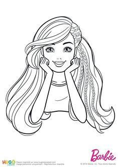 Coloriage et illustration Barbie Fashionistas, portrait classique. Barbie est allongée sur le sol, ses deux mains sur le côté de son visage. Une partie de ses cheveux est tressée. Si tu es fan de Barbie, pas d'hésitations, ce coloriage gratuit est fait pour toi. Detailed Coloring Pages, Easy Coloring Pages, Animal Coloring Pages, Coloring Pages To Print, Coloring Books, Barbie Painting, Barbie Drawing, Girl Drawing Sketches, Barbie Coloring Pages
