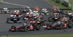 Start of GP Australia 18th March 2012 #formula1 #f1 #australia