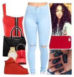 """""""06•17•16"""" by boss-baby ❤ liked on Polyvore featuring WearAll, MICHAEL Michael Kors, Fendi, NIKE and Tory Burch"""