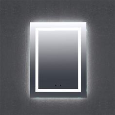 "LED Mirror 24"" to 72"" (Reversible), Modern Bathroom Mirror #interiordecor #interiordesign"
