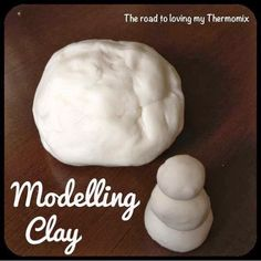 The road to loving my Thermomix: Modelling Clay -- make and give this as gift or use it to model your own persoalized gifts. Napkin rings, pendants or dollhouse decor anyone? Glue Crafts, Muesli, Eating Plans, Food Items, Food Print, Modelling Clay, Breakfast Recipes, Crafts For Kids, Stuffed Peppers