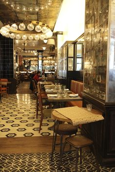 Toto Barcelona- cool lighting, good use of mirrors and bench seating