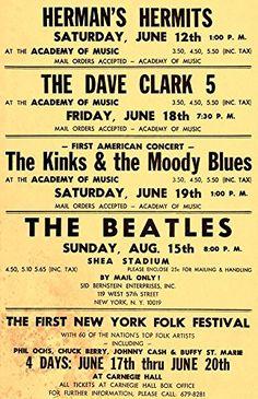 """The Beatles - Shea Stadium."" Fantastic A4 Glossy Art Print Taken from A Vintage Concert Poster by Design Artist http://www.amazon.co.uk/dp/B01562E9Y4/ref=cm_sw_r_pi_dp_M1s8vb1K8BNR8"