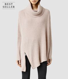 Womens Able Roll Neck Sweater (PORCELAIN WHITE) - product_image_alt_text_1