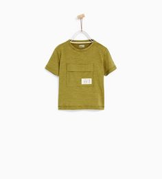 Image 2 of BASIC T-SHIRT WITH POCKET from Zara