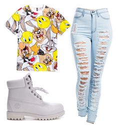 Tims by lenathemusicfreak-mindless on Polyvore featuring polyvore, fashion, style, Timberland and H&M