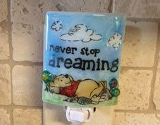 Winnie the Pooh night light  Never stop dreaming by cheecheesglass