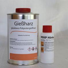 1 Kg Gießharz (glasklar)+ 20 g Härter (Polyesterharz, casting resin) in Business & Industrie, Kunststoffindustrie & Chemie, Kunststoffe & Werkstoffe | eBay