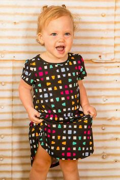 LuLaRoe Mae! It's the cutest little girl dress! It has an elastic waistband plus pockets! We have tons in our shop to choose from! Vine check us out! Facebook.com/groups/lularoehaleyandjess #LuLaRoeHaleyandJess #LuLaRoe #LuLaRoeMae #LuLaRoeToddler #kidsfashion #pockets #dress