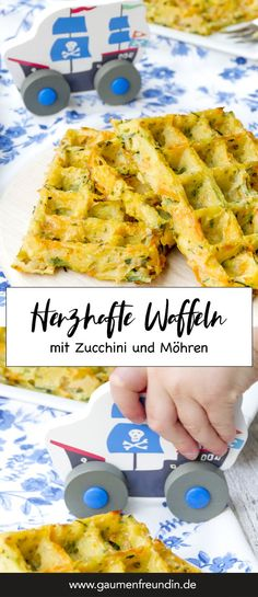 Vegetable waffles for children from the oven - quick and healthy - Hearty vegetable waffles made from zucchini, potatoes and carrots – perfect for children – food - Kids Meals, Easy Meals, Waffles, Baby Food Recipes, Healthy Recipes, Best Pancake Recipe, Crepe Recipes, Evening Meals, Four