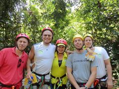Mitch Carson on a Ziplining adventure in Cost Rica with Simon Coulson at Limon Centro.
