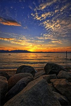 Another Lake Tahoe Sunset Pastel Sunset, Color Of Life, Lake Tahoe, Sunrise, Moon, Earth, Sky, Explore, World