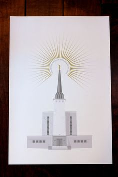 London, England LDS Temple 13x19 print by Fine Fettle Studio
