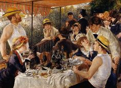 Impressionism- showing people in this era in a completely uncivilized manner. art is always pushing the society's norm ;)
