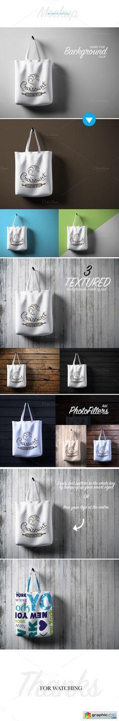 Realistic Tote Bag Mockup