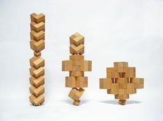 遊んだらオブジェができちゃう不思議なブロック Module, Wood Toys, Lego, Design Inspiration, Japan, Beautiful, Brick, Paper, Wooden Toy Plans