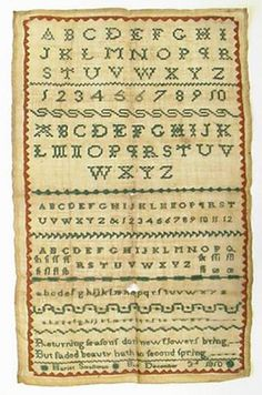 American folk art sampler