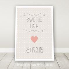 """Save the Date """"Herzchen"""""""