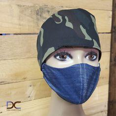 Camouflage Head band + Denim Mask