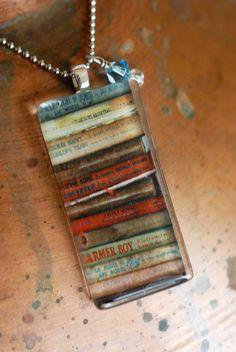 Laura Ingalls Wilder book pendant by Jennilynnannabelle on Etsy, $22.00
